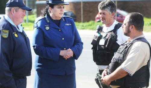 Kraaifontein police are working with private security companies to tackle crime. Picture: Brenton Geach. Credit: INDEPENDENT MEDIA